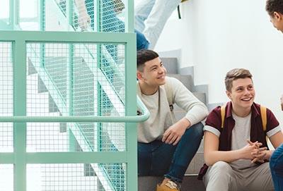 Siatka na schody do zabezpieczenia balustrady