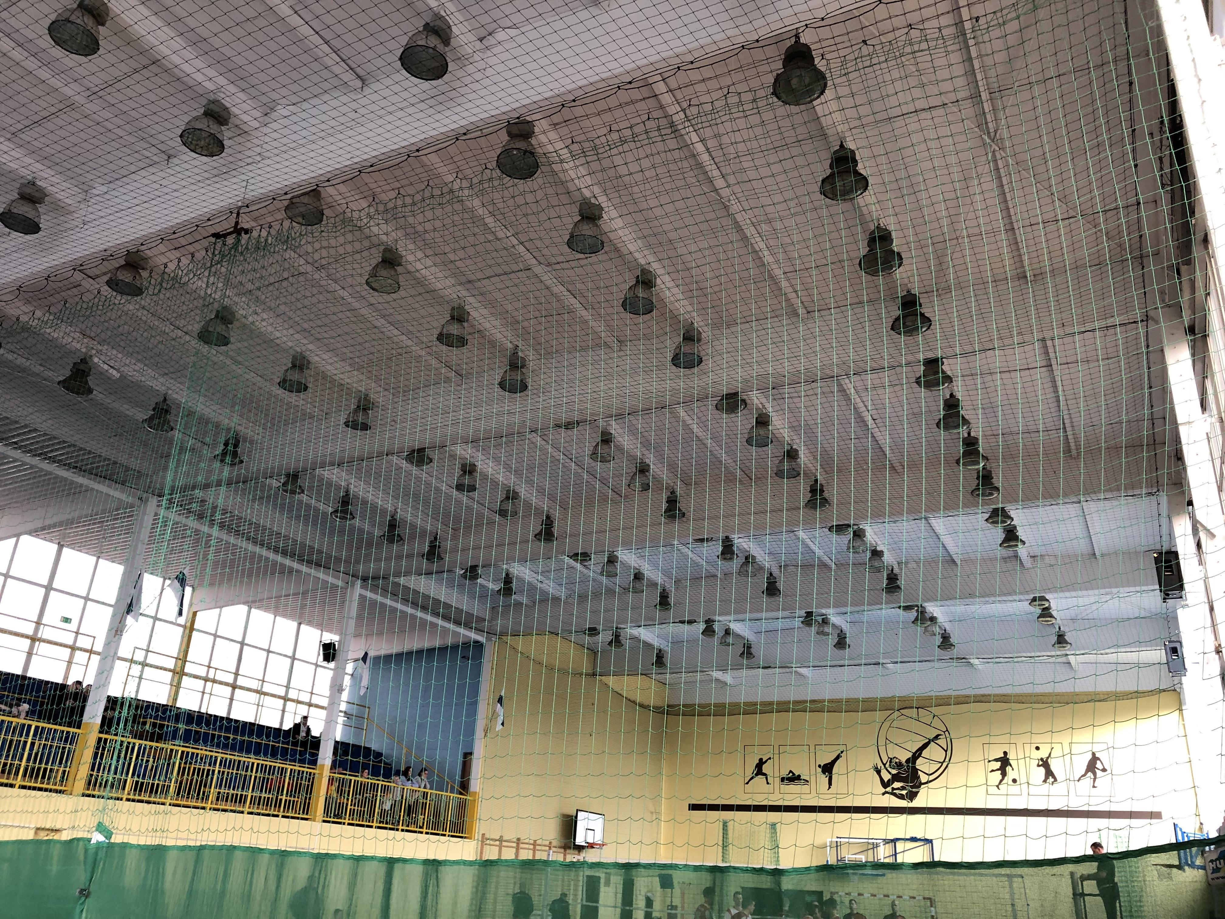 Siatka zabezpieczająca lampy nahali sportowej - SYMAR